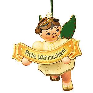 Christbaumschmuck Engel Baumbehang Schwebeengel Christbaumschmuck Engel Frohe Weihnacht - 6cm