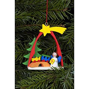 Christbaumschmuck Engel Baumbehang Sonstige Engel Christbaumschmuck Engel im Bogen mit Zug - 7,4 x 6,3 cm