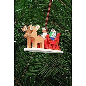 Christbaumschmuck Spielzeug-Design Christbaumschmuck Engel im Rentierschlitten - 9,7 cm