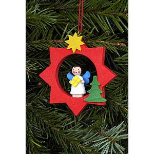 Weihnachtsengel Engel Baumbehang Sonstige Engel Christbaumschmuck Engel im roten Stern - 6,0 x 6,0 cm
