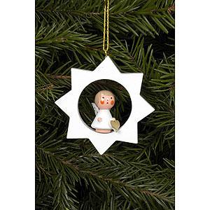 Weihnachtsengel Engel Baumbehang Serie Sterne & Weiß Christbaumschmuck Engel im weißen Stern - 6,0x6,0 cm