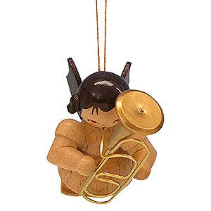 Christbaumschmuck Engel Baumbehang Schwebeengel - natur Christbaumschmuck Engel mit Bariton - natur - schwebend - 5,5 cm