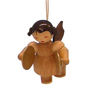 Christbaumschmuck Engel Baumbehang Schwebeengel - natur Christbaumschmuck Engel mit Becken - natur - schwebend - 5,5cm