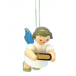 Christbaumschmuck Engel Baumbehang Schwebeengel - blaue Flügel Christbaumschmuck Engel mit Bibel - Blaue Flügel - schwebend - 6 cm