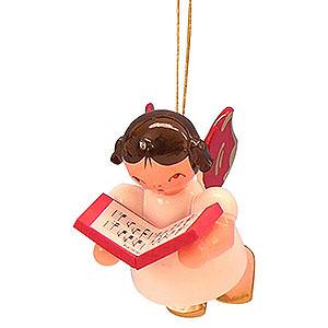 Christbaumschmuck Engel Baumbehang Schwebeengel - rote Flügel Christbaumschmuck Engel mit Buch - Rote Flügel - schwebend - 5,5cm