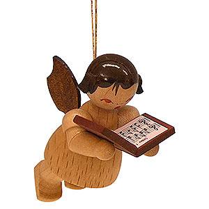 Christbaumschmuck Engel Baumbehang Schwebeengel - natur Christbaumschmuck Engel mit Buch - natur - schwebend - 5,5 cm