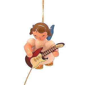 Christbaumschmuck Engel Baumbehang Schwebeengel - blaue Flügel Christbaumschmuck Engel mit E-Gitarre - Blaue Flügel - schwebend - 5,5cm