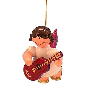 Christbaumschmuck Engel Baumbehang Schwebeengel - rote Flügel Christbaumschmuck Engel mit Gitarre - Rote Flügel - schwebend - 5,5cm
