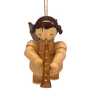 Christbaumschmuck Engel Baumbehang Schwebeengel - natur Christbaumschmuck Engel mit Oboe - natur - schwebend - 5,5 cm