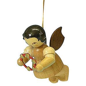 Christbaumschmuck Engel Baumbehang Schwebeengel - natur Christbaumschmuck Engel mit Schellenring - natur - schwebend - 5,5 cm