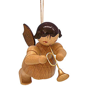Christbaumschmuck Engel Baumbehang Schwebeengel - natur Christbaumschmuck Engel mit Trompete - natur - schwebend - 5,5 cm