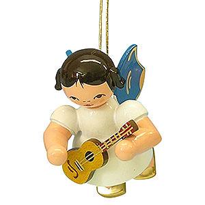 Christbaumschmuck Engel Baumbehang Schwebeengel - blaue Flügel Christbaumschmuck Engel mit Ukulele - Blaue Flügel - schwebend - 5,5 cm
