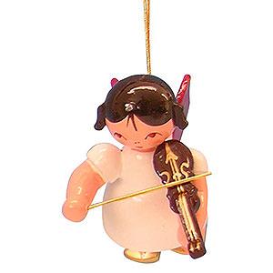 Christbaumschmuck Engel Baumbehang Schwebeengel - rote Flügel Christbaumschmuck Engel mit Violine - Rote Flügel - schwebend - 5,5 cm