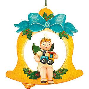 Christbaumschmuck Engel Baumbehang Schwebeengel Christbaumschmuck Engelbub/Glocke/Lok - 10cm