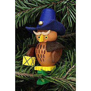 Christbaumschmuck Sonstiger Baumschmuck Christbaumschmuck Eule Nachtwächter auf Klammer - 5,3x7,3cm