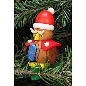 Christbaumschmuck Weihnachtsmann Christbaumschmuck Eule Weihnachtsmann auf Klammer - 4,8x7,3cm