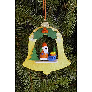 Christbaumschmuck Weihnachtsmann Christbaumschmuck Glocke mit Weihnachtsmann - 7,1 x 7,9cm