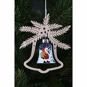 Christbaumschmuck Weihnachtsmann Christbaumschmuck - Handbemalte Glasglocke Weihnachtsmann, 3er Set - 9x8cm