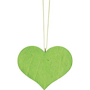 Christbaumschmuck Sonstiger Baumschmuck Christbaumschmuck Herz grün - 5,7x4,5cm