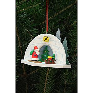 Christbaumschmuck Weihnachtsmann Christbaumschmuck Iglu mit Niko - 9,2x7,0cm