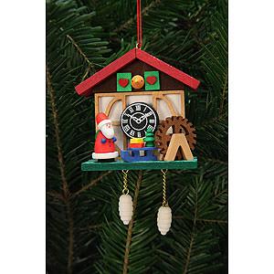 Christbaumschmuck Weihnachtsmann Christbaumschmuck Kuckucksuhr Niko am Wasserrad - 7,0x6,7 cm