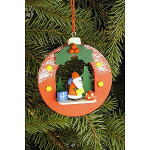 Christbaumschmuck Weihnachtsmann Christbaumschmuck Kugel mit Weihnachtsmann - 6,7 x 7,4cm
