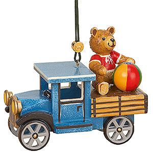 Christbaumschmuck Spielzeug-Design Christbaumschmuck LKW mit Teddy - 5 cm