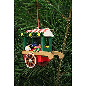 Christbaumschmuck Spielzeug-Design Christbaumschmuck Marktwagen mit Spielzeug - 7,1 cm