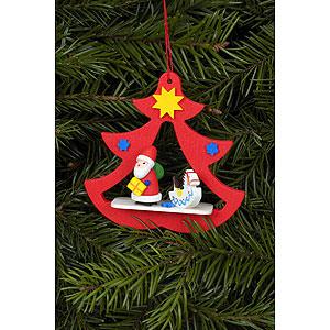Christbaumschmuck Weihnachtsmann Christbaumschmuck Nikolaus im Baum - 7,2 x 7,1 cm