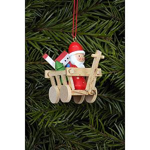 Christbaumschmuck Weihnachten Christbaumschmuck Nikolaus im W�gele - 5,4 x 4,7cm
