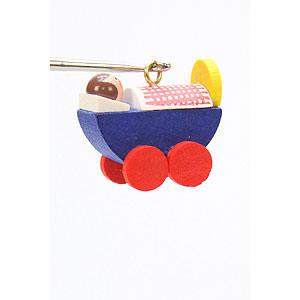 Christbaumschmuck Spielzeug-Design Christbaumschmuck Puppenwagen - 2,4 / 2,3 cm