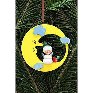 Christbaumschmuck Sonstiger Baumschmuck Christbaumschmuck Schneeflöckchen im Mond - 7,9x7,9 cm