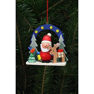 Christbaumschmuck Weihnachtsmann Christbaumschmuck Sternenhimmel mit Niko - 7,5x7,1 cm