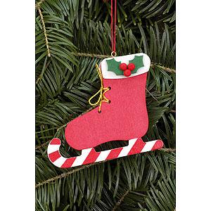 Christbaumschmuck Weihnachten Christbaumschmuck Stiefel mit Zuckerstange - 8,0 x 6,8cm