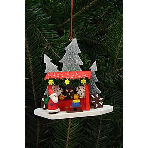 Christbaumschmuck Weihnachtsmann Christbaumschmuck Striezelmarktstand mit Niko - 9,2x8,7cm