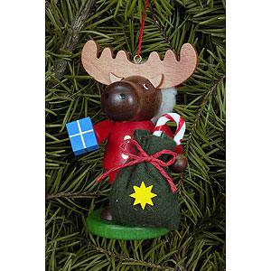Christbaumschmuck Weihnachten Christbaumschmuck Strolch Elch Weihnachtsmann - 9,5 cm