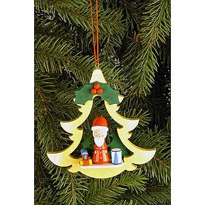 Christbaumschmuck Weihnachtsmann Christbaumschmuck Tanne mit Weihnachtsmann - 8,5 x 8,7cm