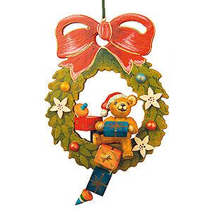 Christbaumschmuck Spielzeug-Design Christbaumschmuck Teddy-Adventskranz - 7cm
