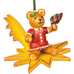 Christbaumschmuck Spielzeug-Design Christbaumschmuck Teddy-Tschüss - 5cm