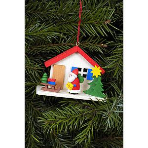 Christbaumschmuck Weihnachtsmann Christbaumschmuck Weihnachtsmann am Haus - 7,0 x 5,0 cm