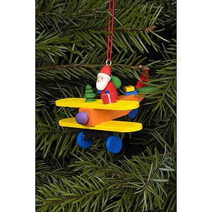 Christbaumschmuck Weihnachtsmann Christbaumschmuck Weihnachtsmann auf Flieger - 6,8 x 4,8 cm