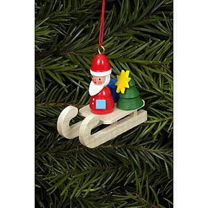 Christbaumschmuck Weihnachtsmann Christbaumschmuck Weihnachtsmann auf Schlitten - 4,7x4,3 cm