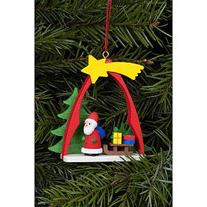 Christbaumschmuck Weihnachtsmann Christbaumschmuck Weihnachtsmann im Bogen - 7,4 x 6,3 cm