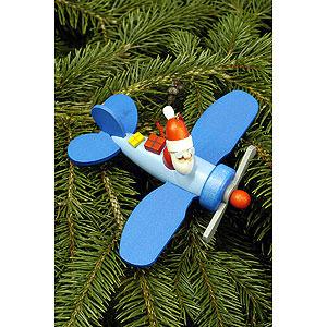 Christbaumschmuck Weihnachtsmann Christbaumschmuck Weihnachtsmann im Flieger - 10,0 x 5,0cm