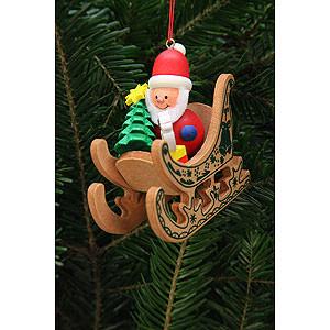 Christbaumschmuck Weihnachtsmann Christbaumschmuck Weihnachtsmann im Schlitten - 7,5x7,1 cm