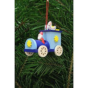 Christbaumschmuck Spielzeug-Design Christbaumschmuck Weihnachtsmann im Truck - 7,2 cm