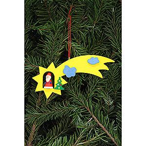 Christbaumschmuck Weihnachtsmann Christbaumschmuck Weihnachtsmann in Sternschnuppe - 12,9x5,2 cm