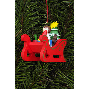 Christbaumschmuck Weihnachtsmann Christbaumschmuck Weihnachtsschlitten - 5,8 x 5,3cm