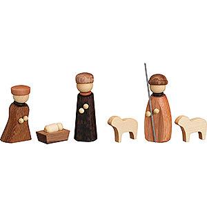 Kleine Figuren & Miniaturen Krippen Christi Geburt, 6-teilig - 7 cm