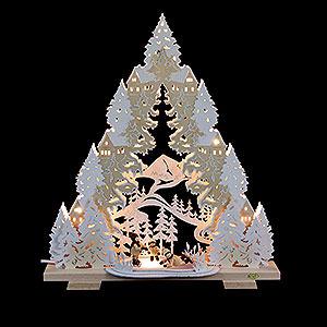 Lichterwelt Lichterspitzen Doppel-Lichtspitze Schlittschuhspa� auf dem Winterteich - 44x50x11cm